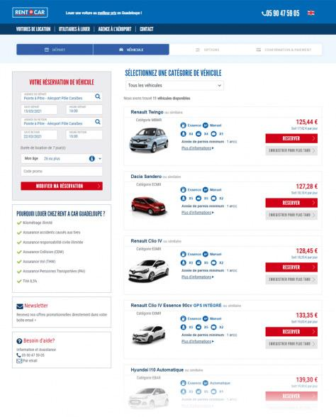 Rent A Car Guadeloupe - Liste